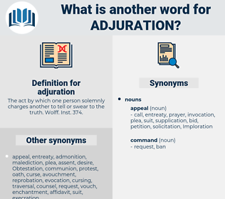 adjuration, synonym adjuration, another word for adjuration, words like adjuration, thesaurus adjuration