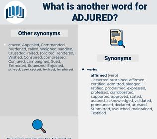 Adjured, synonym Adjured, another word for Adjured, words like Adjured, thesaurus Adjured