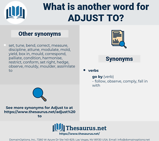 adjust to, synonym adjust to, another word for adjust to, words like adjust to, thesaurus adjust to