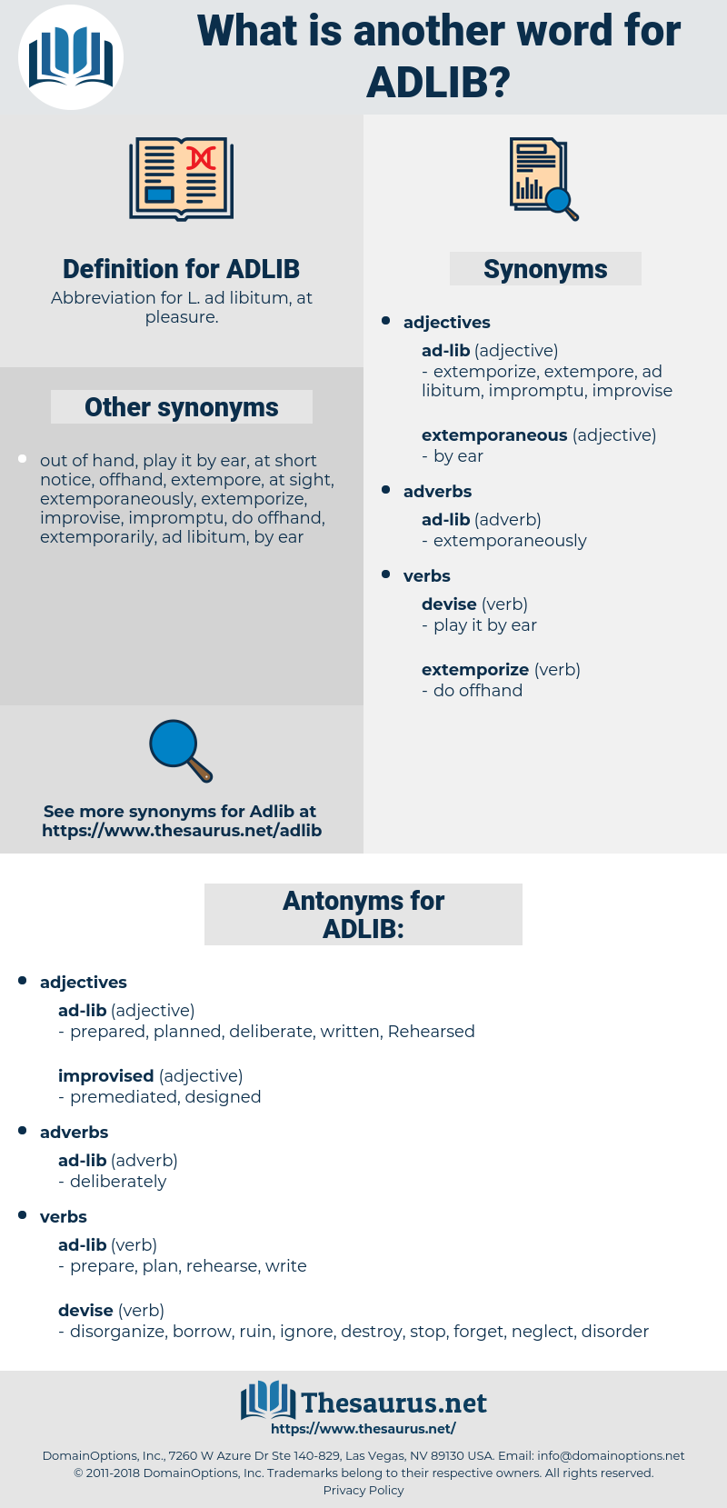 ADLIB, synonym ADLIB, another word for ADLIB, words like ADLIB, thesaurus ADLIB