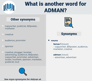 adman, synonym adman, another word for adman, words like adman, thesaurus adman