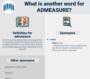 admeasure, synonym admeasure, another word for admeasure, words like admeasure, thesaurus admeasure
