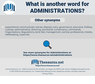 administrations, synonym administrations, another word for administrations, words like administrations, thesaurus administrations