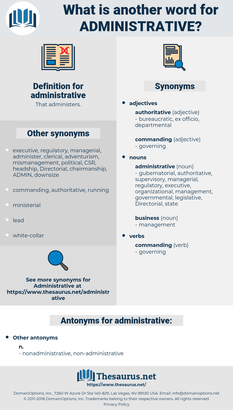 administrative, synonym administrative, another word for administrative, words like administrative, thesaurus administrative