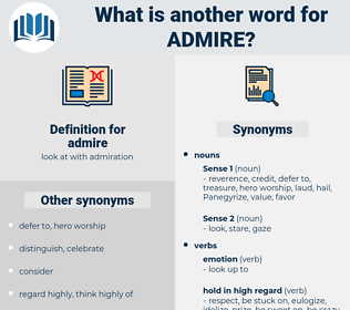 admire, synonym admire, another word for admire, words like admire, thesaurus admire