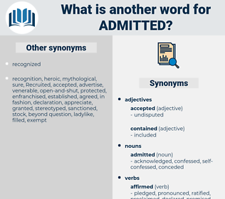 admitted, synonym admitted, another word for admitted, words like admitted, thesaurus admitted