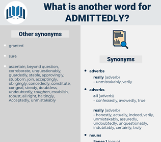 admittedly, synonym admittedly, another word for admittedly, words like admittedly, thesaurus admittedly
