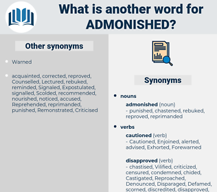 admonished, synonym admonished, another word for admonished, words like admonished, thesaurus admonished
