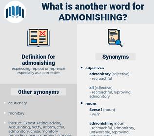 admonishing, synonym admonishing, another word for admonishing, words like admonishing, thesaurus admonishing