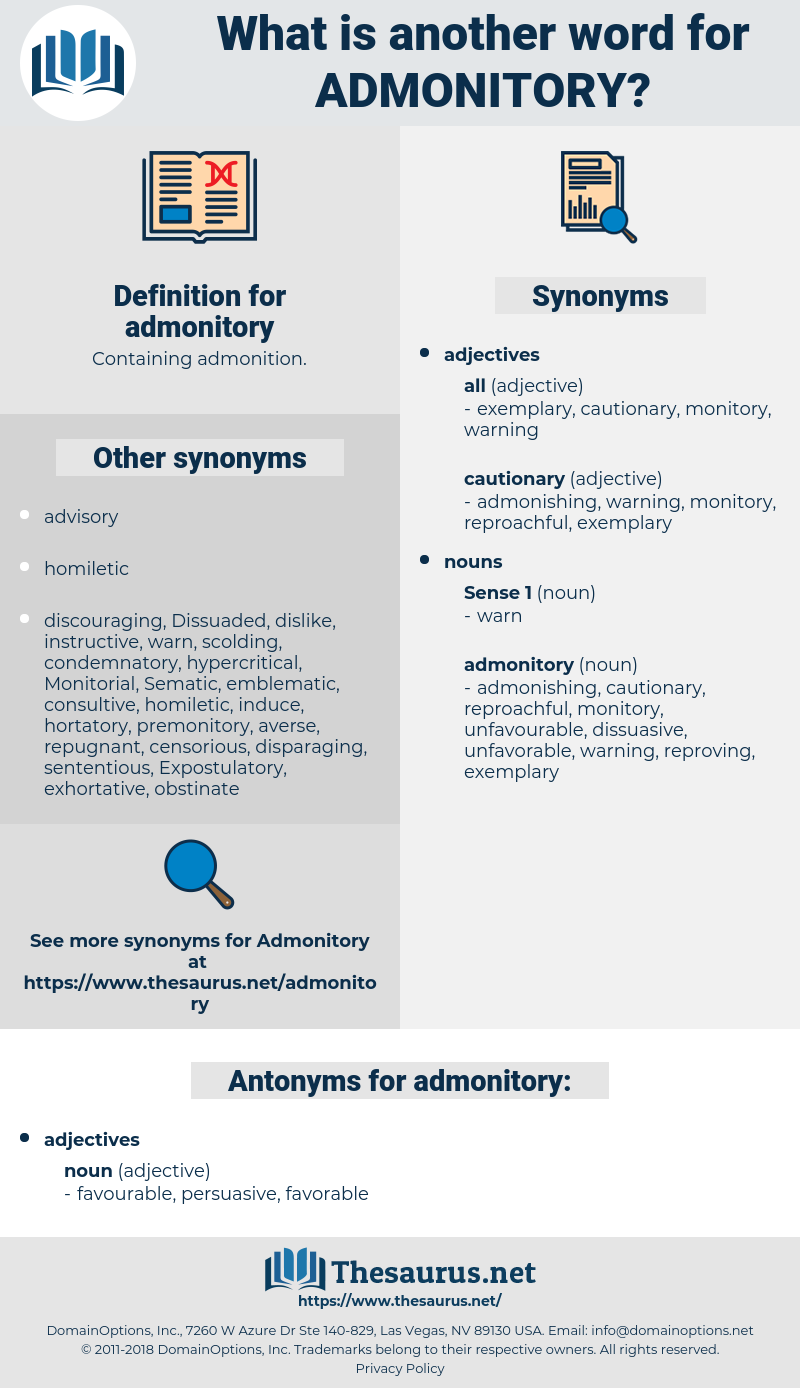 admonitory, synonym admonitory, another word for admonitory, words like admonitory, thesaurus admonitory