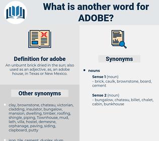 adobe, synonym adobe, another word for adobe, words like adobe, thesaurus adobe