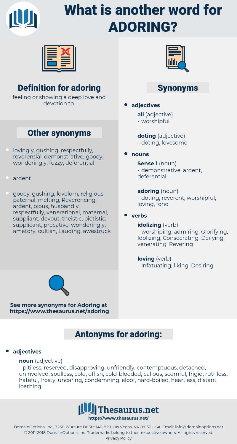 adoring, synonym adoring, another word for adoring, words like adoring, thesaurus adoring