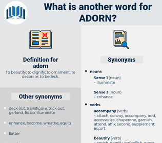 adorn, synonym adorn, another word for adorn, words like adorn, thesaurus adorn