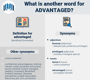 advantaged, synonym advantaged, another word for advantaged, words like advantaged, thesaurus advantaged