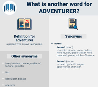 adventurer, synonym adventurer, another word for adventurer, words like adventurer, thesaurus adventurer