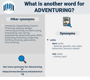 Adventuring, synonym Adventuring, another word for Adventuring, words like Adventuring, thesaurus Adventuring