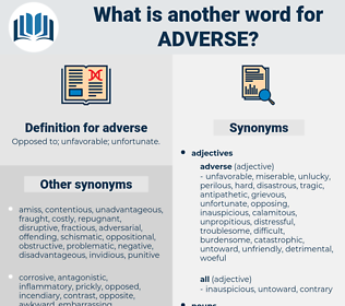 adverse, synonym adverse, another word for adverse, words like adverse, thesaurus adverse