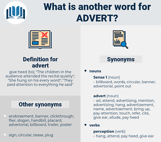 advert, synonym advert, another word for advert, words like advert, thesaurus advert