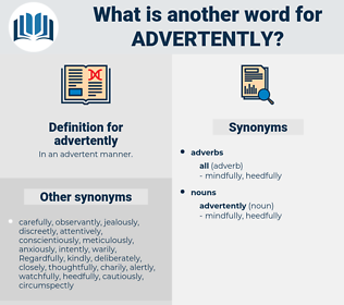 advertently, synonym advertently, another word for advertently, words like advertently, thesaurus advertently