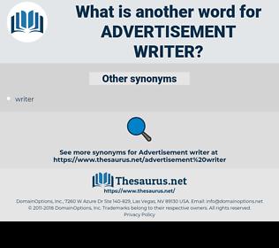 advertisement writer, synonym advertisement writer, another word for advertisement writer, words like advertisement writer, thesaurus advertisement writer