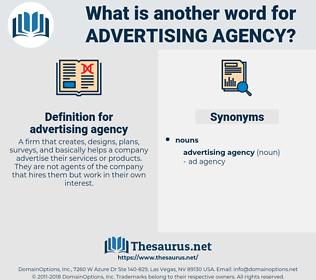 advertising agency, synonym advertising agency, another word for advertising agency, words like advertising agency, thesaurus advertising agency