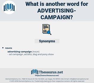 advertising campaign, synonym advertising campaign, another word for advertising campaign, words like advertising campaign, thesaurus advertising campaign