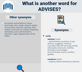 advises, synonym advises, another word for advises, words like advises, thesaurus advises