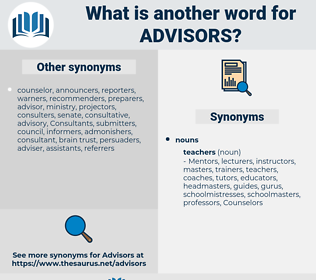 advisors, synonym advisors, another word for advisors, words like advisors, thesaurus advisors