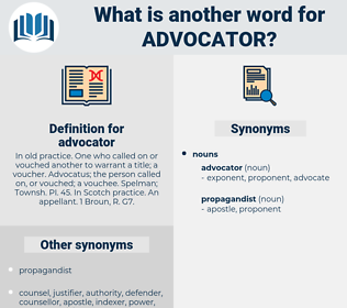 advocator, synonym advocator, another word for advocator, words like advocator, thesaurus advocator