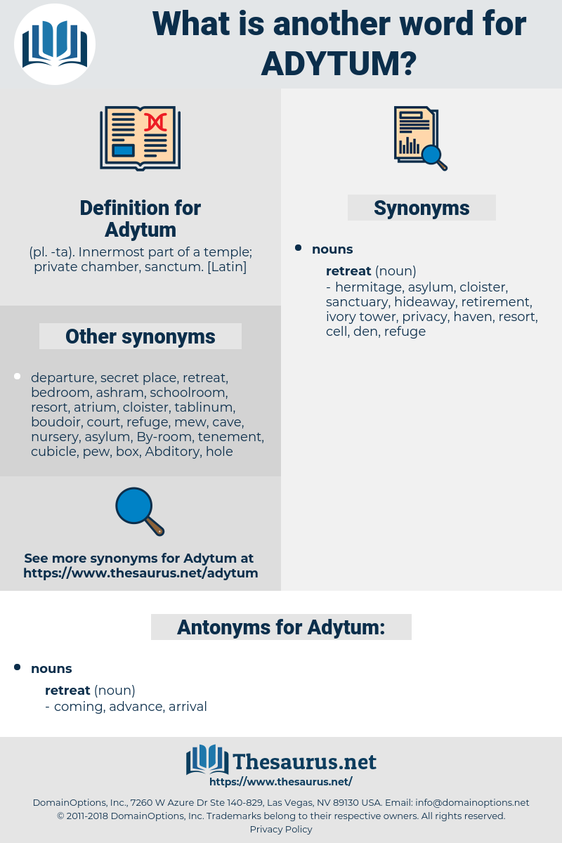 Adytum, synonym Adytum, another word for Adytum, words like Adytum, thesaurus Adytum