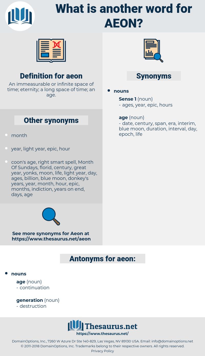 aeon, synonym aeon, another word for aeon, words like aeon, thesaurus aeon