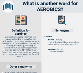 aerobics, synonym aerobics, another word for aerobics, words like aerobics, thesaurus aerobics