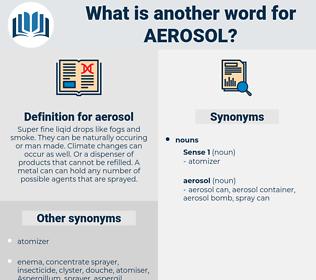 aerosol, synonym aerosol, another word for aerosol, words like aerosol, thesaurus aerosol