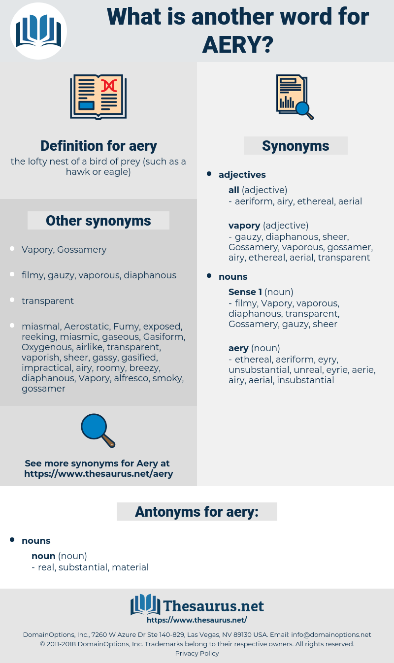 aery, synonym aery, another word for aery, words like aery, thesaurus aery