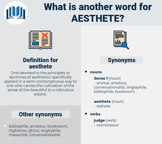 aesthete, synonym aesthete, another word for aesthete, words like aesthete, thesaurus aesthete