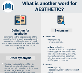 Synonyms for AESTHETIC, Antonyms for AESTHETIC - Thesaurus net