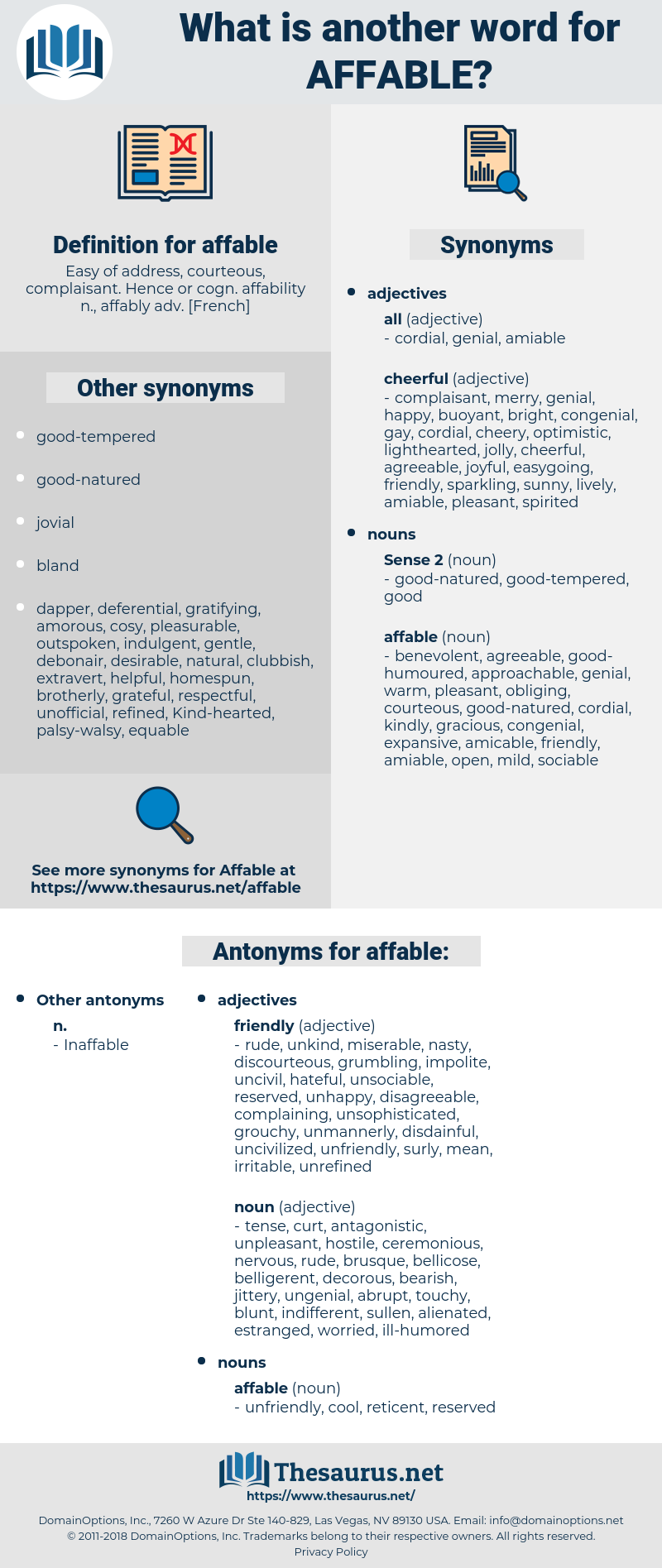affable, synonym affable, another word for affable, words like affable, thesaurus affable
