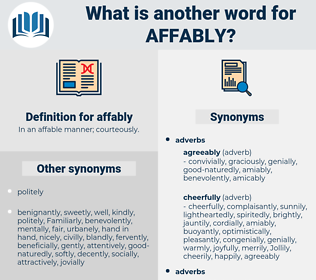 affably, synonym affably, another word for affably, words like affably, thesaurus affably