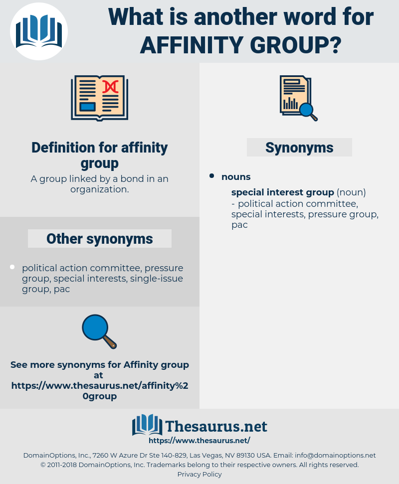 Synonyms For Affinity Group