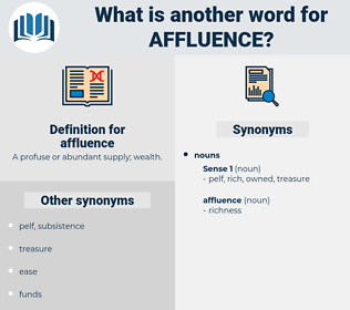 affluence, synonym affluence, another word for affluence, words like affluence, thesaurus affluence