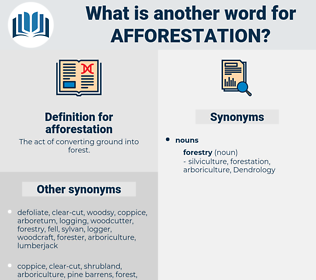 afforestation, synonym afforestation, another word for afforestation, words like afforestation, thesaurus afforestation