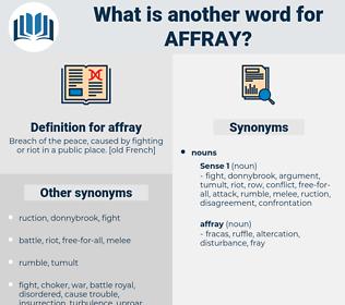 affray, synonym affray, another word for affray, words like affray, thesaurus affray