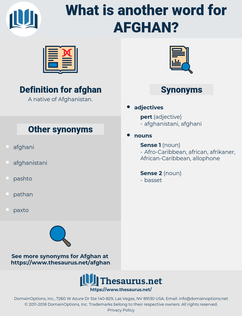 afghan, synonym afghan, another word for afghan, words like afghan, thesaurus afghan