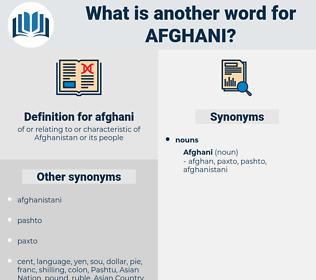 afghani, synonym afghani, another word for afghani, words like afghani, thesaurus afghani