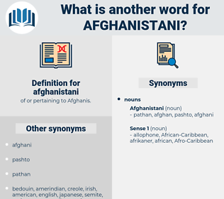 afghanistani, synonym afghanistani, another word for afghanistani, words like afghanistani, thesaurus afghanistani