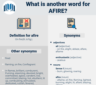 afire, synonym afire, another word for afire, words like afire, thesaurus afire