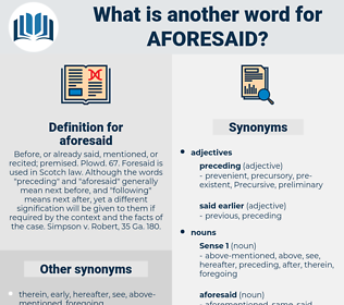 aforesaid, synonym aforesaid, another word for aforesaid, words like aforesaid, thesaurus aforesaid