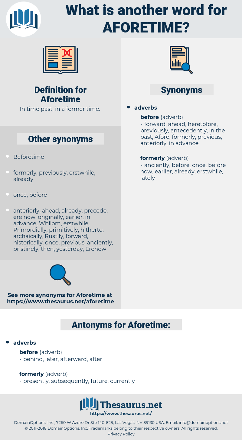 Aforetime, synonym Aforetime, another word for Aforetime, words like Aforetime, thesaurus Aforetime
