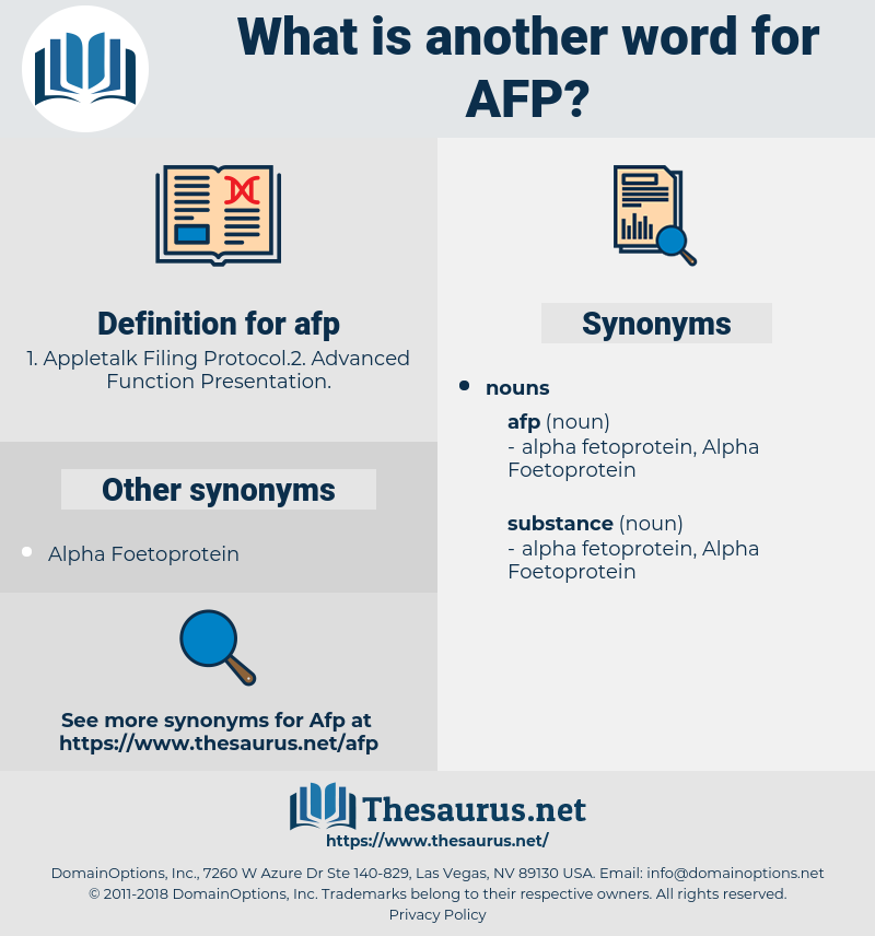 afp, synonym afp, another word for afp, words like afp, thesaurus afp