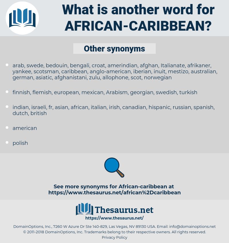 African-Caribbean, synonym African-Caribbean, another word for African-Caribbean, words like African-Caribbean, thesaurus African-Caribbean